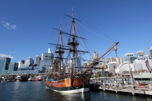 Sydney - loď Endeavour